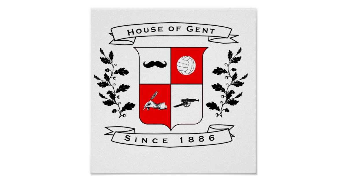 House Of Gent Official Wall Decoration Poster Zazzle
