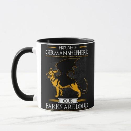 House Of German Shepherd Our Barks Are Loud Mug