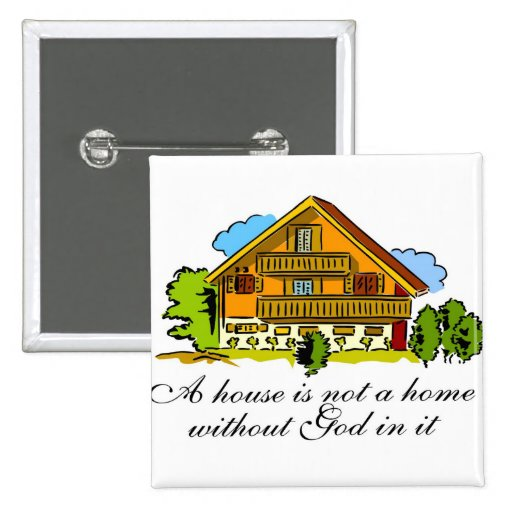 House of God 2 Inch Square Button