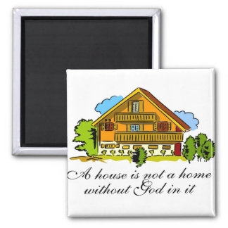 House of God 2 Inch Square Magnet