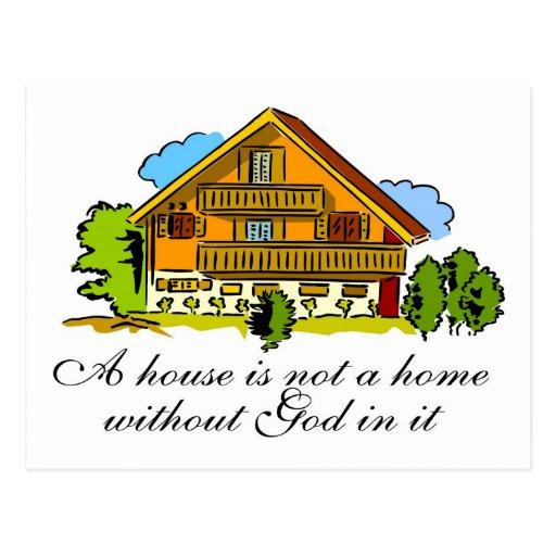 House of God Postcard