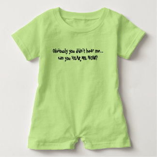 House of Heron Original Can you hear me now? Baby Romper
