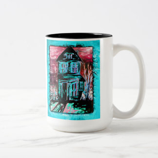 House of Invitation Two-Tone Coffee Mug