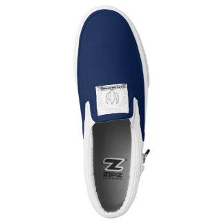 house of JRK greek logo slip ons Printed Shoes
