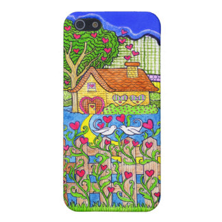 House of Love with Hearts with Doves Cover For iPhone SE/5/5s