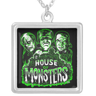 House of Monsters Square Pendant Necklace