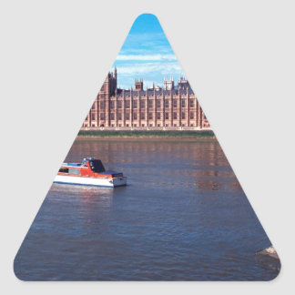 House of Parliament , London Triangle Sticker