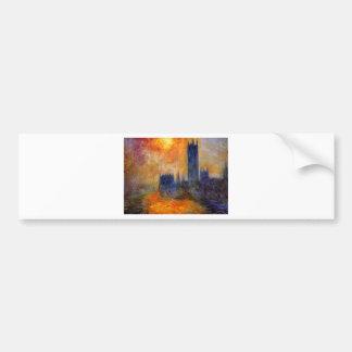 House of Parliament Sun by Claude Monet Bumper Sticker