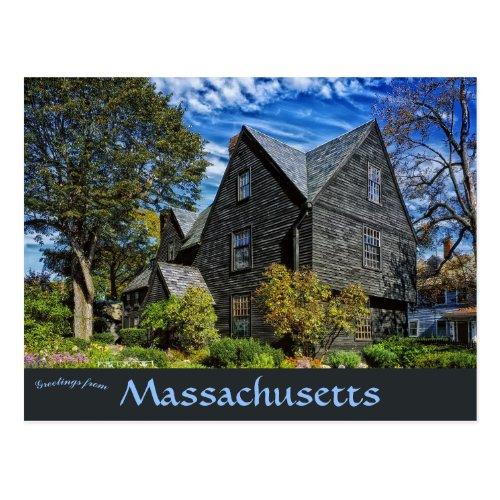 House of Seven Gables Salem Massachusetts Postcard
