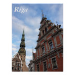 House of the Blackheads. Riga, Latvia Poster
