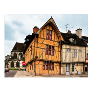 House of the Dolphin in Troyes France Postcard