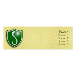 House of the Serpent Profile Card Mini Business Card