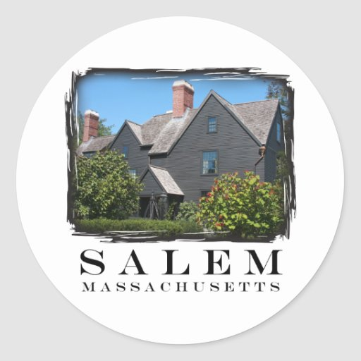 House of the Seven Gable Round Sticker