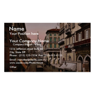 House of Victor Emmanuel, Milan, Italy vintage Pho Double-Sided Standard Business Cards (Pack Of 100)