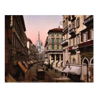 House of Victor Emmanuel, Milan, Italy vintage Pho Postcard