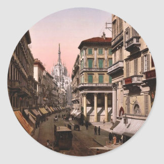 House of Victor Emmanuel, Milan, Italy vintage Pho Stickers