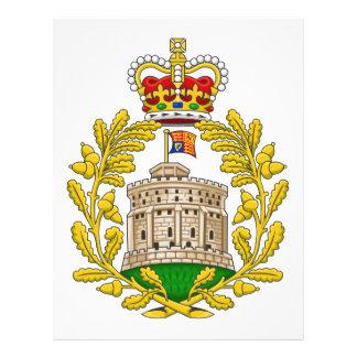 House of Windsor Royal Coat of Arms Custom Letterhead