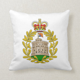 House of Windsor Royal Coat of Arms Throw Pillow