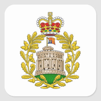 House of Windsor Royal Coat of Arms Square Sticker