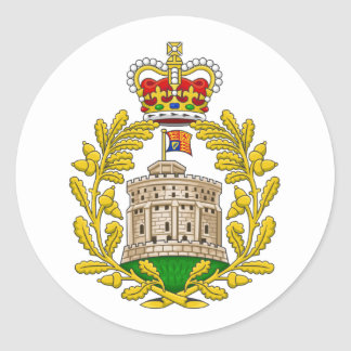 House of Windsor Royal Coat of Arms Classic Round Sticker