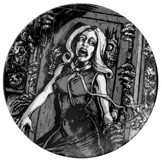 House of Zombies Porcelain Plate
