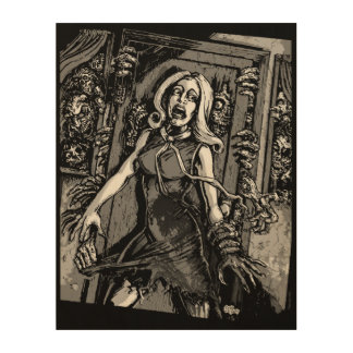 House of Zombies Wood Wall Art
