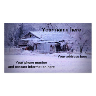House on 72 with Ice Business Card