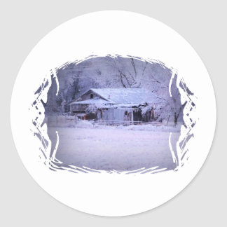 House on 72 with Ice Classic Round Sticker