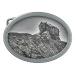House On A Hill Oval Belt Buckle