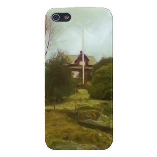 House on a small hill case for iPhone 5