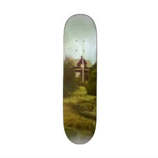 House on a small hill skateboard deck