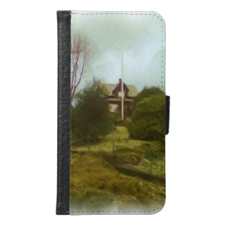 House on a small hill wallet phone case for samsung galaxy s6
