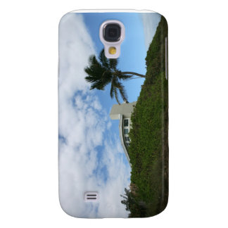 House on Hill with sky and palm tree in Florida Samsung Galaxy S4 Cover