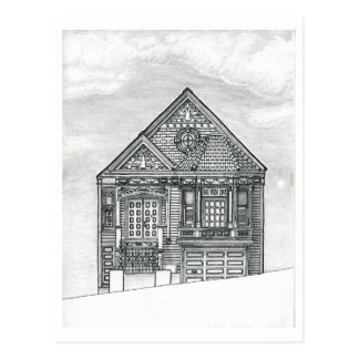 House on Potrero Hill, San Francisco ~ Postcard