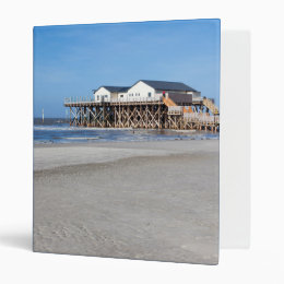 House on stilts at the beach of St. Peter Ording Binder