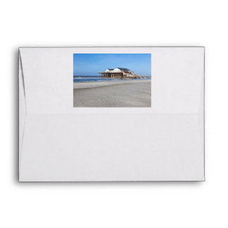 House on stilts at the beach of St. Peter Ording Envelope