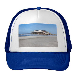 House on stilts at the beach of St. Peter Ording Trucker Hat