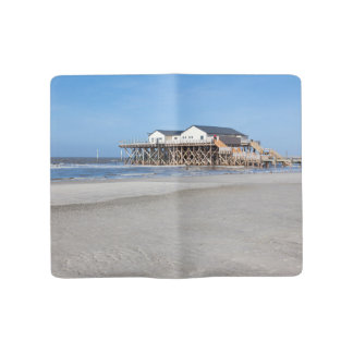 House on stilts at the beach of St. Peter Ording Large Moleskine Notebook