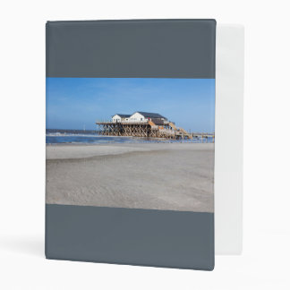 House on stilts at the beach of St. Peter Ording Mini Binder