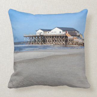 House on stilts at the beach of St. Peter Ording Pillows