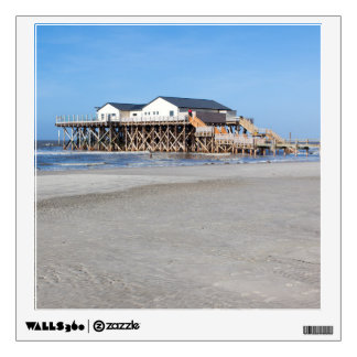 House on stilts at the beach of St. Peter Ording Wall Decal