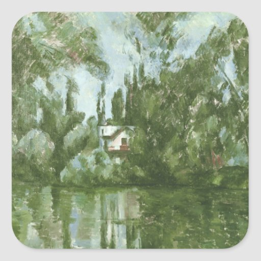 House on the Banks of the Marne, 1889-90 Square Stickers