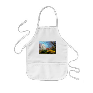 House on the Hill in Spring Apron