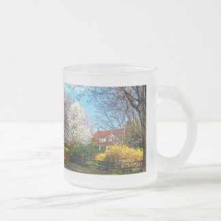 House on the Hill in Spring Coffee Mugs