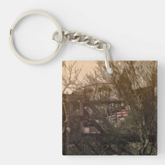House on the hill keychain