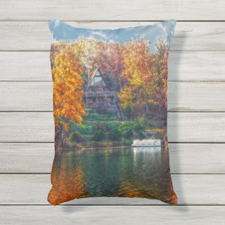 House on the Lake Outdoor Pillow