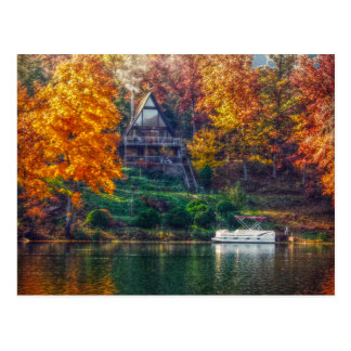 House on the Lake Postcard