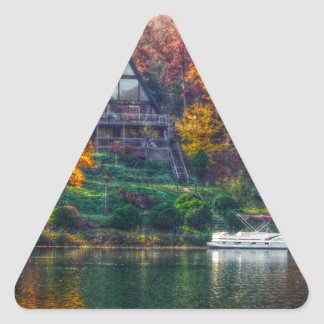 House on the Lake Triangle Sticker