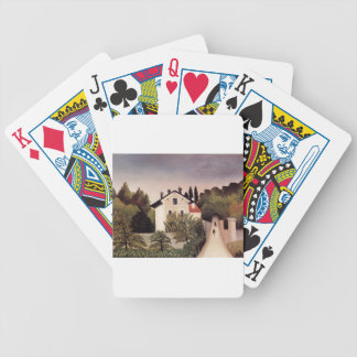House on the Outskirts of Paris by Henri Rousseau Bicycle Playing Cards