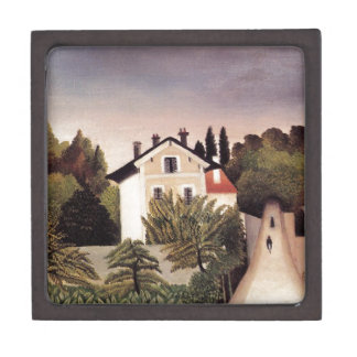 House on the Outskirts of Paris by Henri Rousseau Gift Box